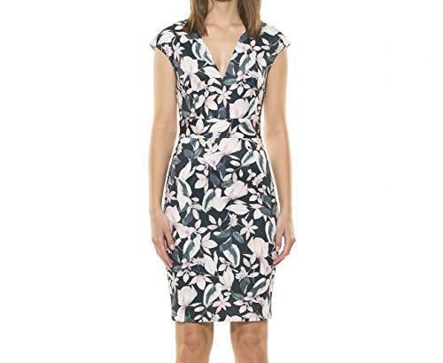 (Alexia Admor Womens V-Neck Floral Sheath Dress Green XL)