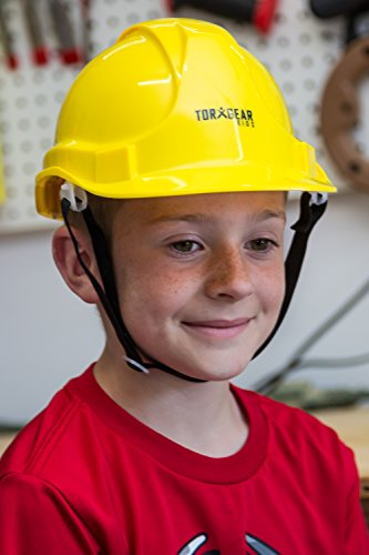 Child Hard Hat - Ages 2 to 6 - Kids Yellow Safety Construction Helmet Costume by TorxGear Kids (Image #2)