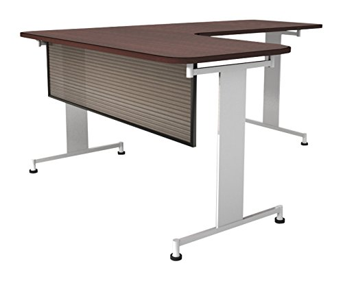 Obex 18X66P-B-S-MP 18'' Polycarbonate Desk and Table Mounted Modesty Panel, Smoke/Bronze, 18'' x 66''