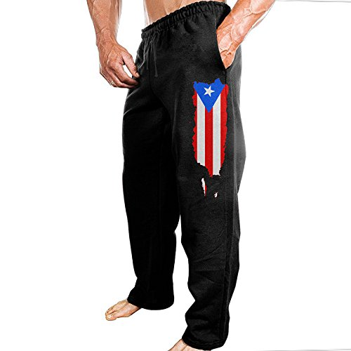 Puerto Rico Map Flag Men's Sport Preshrunk Cotton (Surplus Corduroy Pants)