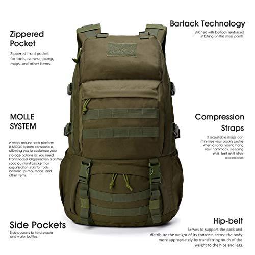 Mardingtop Sac à dos militaire tactique 25 L/28 L pour randonnée, voyage, trekking, tactique, sac tactique, sac à dos… 5