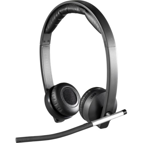 Logitech Wireless Headset H820e - Stereo - Wireless - Dect - 328.1 Ft - 150 Hz - 7 Khz - Over-The-Head - Binaural - Circumaural - Echo Cancelling, Noise Cancelling Microphone
