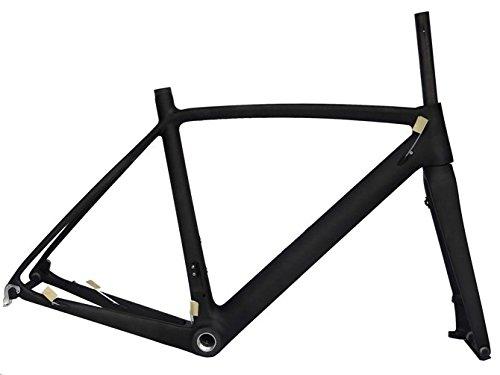 Flyxiiフルカーボン3 Kマット700 Cロードバイクフレームセット: 54 cm自転車フレームフォーク   B01H299YUS