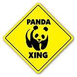 PANDA CROSSING Sign xing signs bear zoo china gift