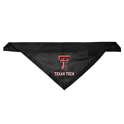 Littlearth Texas Tech Red Raiders Dog Cat Mesh Jersey Bandana S/M