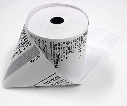 BuyRegisterRolls (50 Rolls) 3 1/8 x 230 (48 GSM Paper Thickness) BPA Free Premium A Grade POS Thermal Receipt Printer Paper