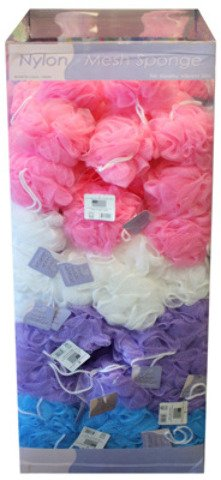 Nylon Mesh Bath Loofah Scrub Poof by bulk buys