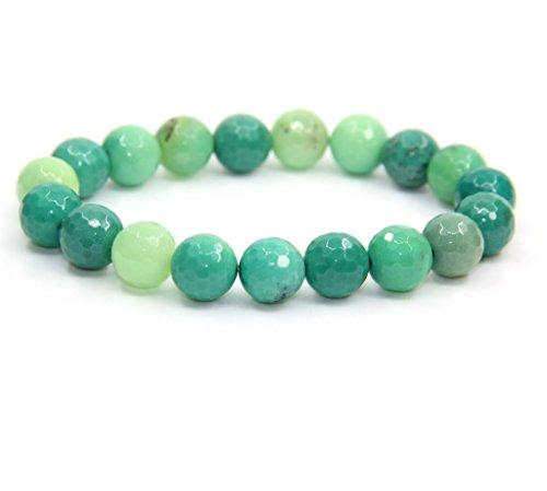 Amandastone Handmade Gem Semi Precious Gemstone 10mm Round Beads Stretch Bracelet 7 Unisex