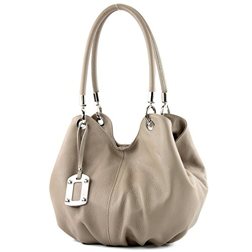 Made Italy , Sac à main pour femme Dunkelbeige