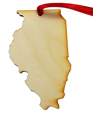 Illinois State Tree (State of Illinois Wooden Christmas Ornament Boxed Gift Handmade in the U.S.A.)