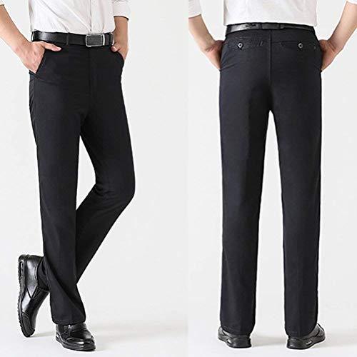 Nero Fashion Taglie Casual Tinta Eleganti Abiti Pantaloni Unita Hx Lavoro Da Comode In A Uomo P6fdFf0wq