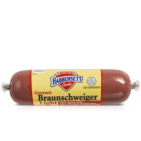 Habbersett Braunschweiger Liverwurst 8 Oz (4 Pack)