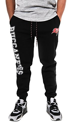 NFL Tampa Bay Buccaneers Men's Jogger Pants Active Basic Fleece Sweatpants, Medium, Black