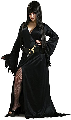 Secret Wishes Elvira Mistress of the Dark Full Figure Costume, Black (Elvira Mistress Of The Dark Halloween Costumes)
