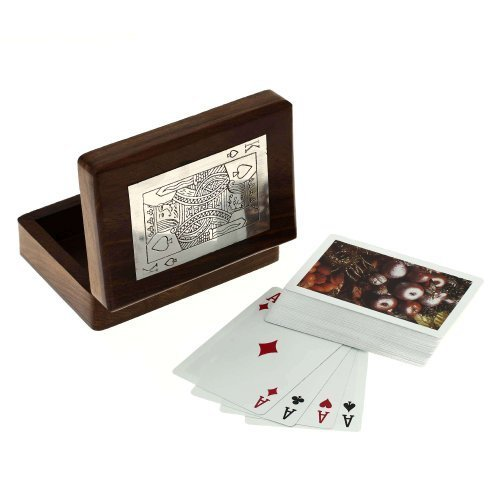 ShalinIndia Wooden Boxes for Storage Playing Card Holder Artisan Crafted