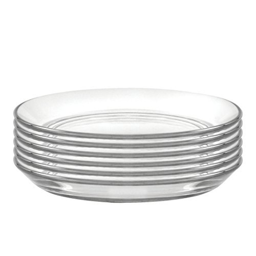 Duralex Made In France Lys 5 3/8 Inch Clear Club Plate, Set of ()