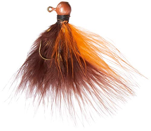 Kalin's MBJ116-BR/O Hand-Tied Marabou Jig Brown/Orange