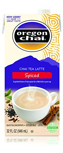 Oregon Chai Spiced Chai Tea Latte Concentrate, 32 Ounce (Pack of 6) by Oregon Chai