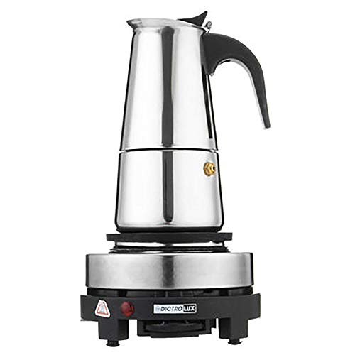WYP Portable Espresso Coffee Maker,200/450Ml Moka Pot Stainless Steel with Electric Stove Filter Percolator Coffee Brewer,450ml,US
