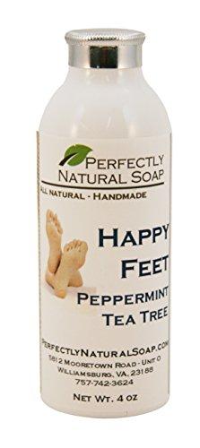 (Happy Feet Peppermint Tea Tree Talc-Free Foot Powder, 4 oz)