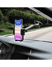 Mpow【Versione AGGIORNATA】Supporto Smartphone per Auto Culla Regolabile per Cruscotto e Parabrezza, Porta Cellulare per Molti Smartphone e Dispositivi Switch, GPS, Nero