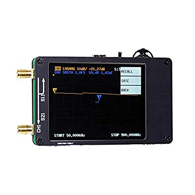 Taidacent Small Portable Vector Network Analyzer 50KHz-900MHz MF HF VHF UHF DIY Antenna Analyzer Used for Radio Design RF Network Analyzer with Touching Screen
