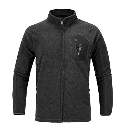 - TBMPOY Men's Classic Active Lightweight Fleece Jacket for Spring Fall Winter(deep Gray,us M)