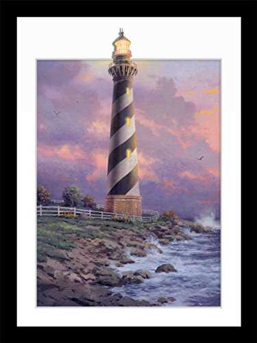 Lighthouse Photo Art (Natural art 3D Stereoscopic Effect Illusion Lighthouse at Twilight Photos Prints on Canvas Wall Decoration Lanscape Painting 12×16inches (Lighthouse at Twilight))