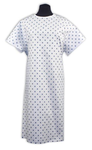Demure Print Hospital Gown - Pack of 4