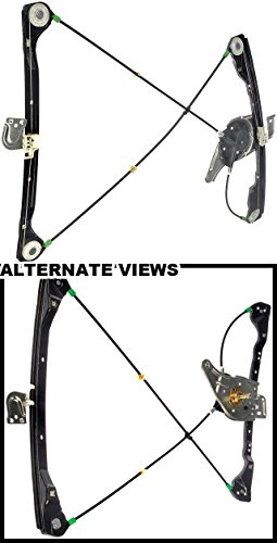 APDTY 851690 Manual Window Regulator (Non-Powered) Fits Front Right (Passenger Side Front) 1999-2004 Oldsmobile Alreo & 1999-2004 Pontiac Grand Am (2 Door Models ONLY) (Replaces # 22697428, 22697438)
