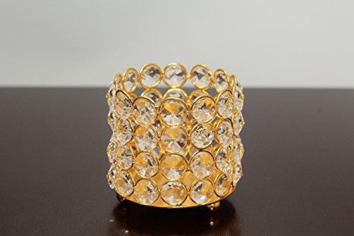 crystal bead candle holder (gold single piece) (Crystal Single Bead)