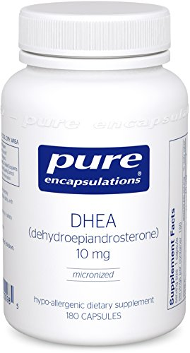 Pure Encapsulations – DHEA (Dehydroepiandrosterone) 10 mg – Micronized Hypoallergenic Supplement – 180 Capsules