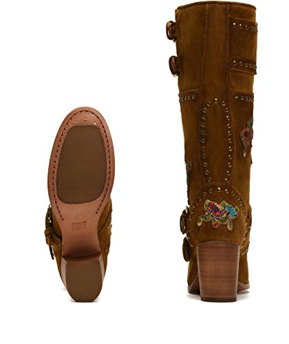 Frye 3475704 Womens Nomi Flower Engineer Boot Wheat lP8Ly6H