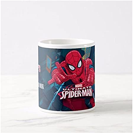 Personalised Name Super Hero Marvel Ultimate Spiderman Mug Cup Present Gift Kids