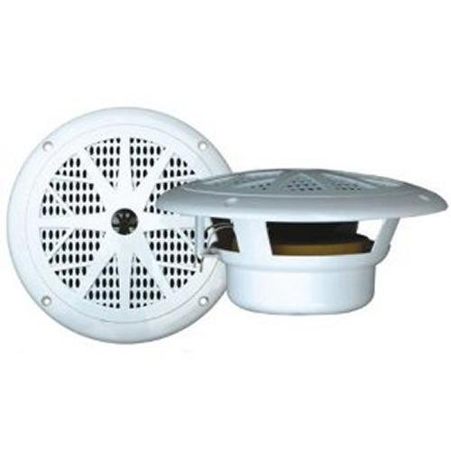 Pyle PLMR61W Marine 120 Watts 6.5 Inch 2 Way White Boat Audio Stereo Pair of Speakers
