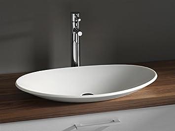 Luxus Design Aufsatzwaschbecken 704 X 420 X 117mm Aus Corian (Mineralguß)  In Weiss,