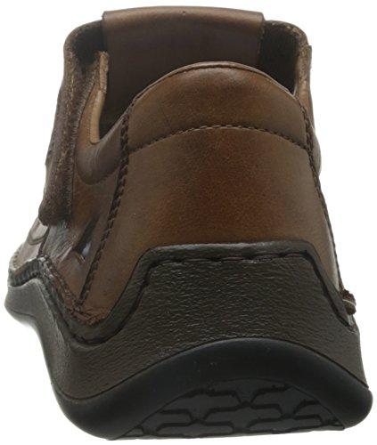 Rieker - Mocasines de Piel para hombre marrón marrón 40