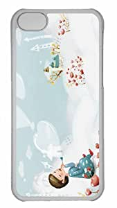 Customized iphone 5C PC Transparent Case - Beautiful Winter Landscape 1 Personalized Cover