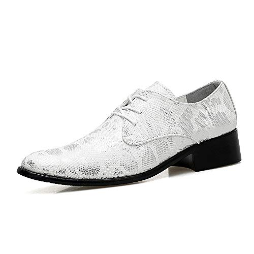 argent 39 EU SCSY-Oxford Chaussures pour Homme Affaires Oxford Curnish mode Snake Tige Confortable Pointe Douce Pointe