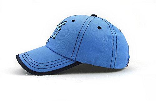 Bleu Coton Acvip Casquette Unique Tissu Réglable Fashion Chapeau Baseball Femme Hat De Taille Béret Homme Style En BgBrawq4v
