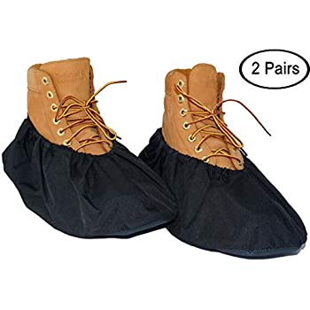 Dearyhome Premium Shoe Covers Washable Reusable Non Slip Work Boot Overshoes For