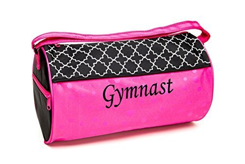 Sassi Designs Lattice & Dots Gymnastics Medium Roll Duffel Bag