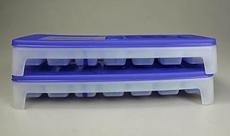 mini Eiswürfel Eis 4 TUPPERWARE Gefrier-Behälter Eiswürfler hellblau