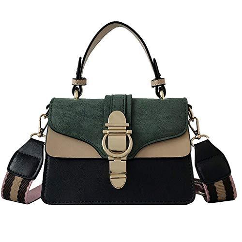 (Handbag, Women Vintage Style Bucket Bag Elegant Retro Shoulder Crossbody Bag Messenger Leather Work Tote Satchel (Green))