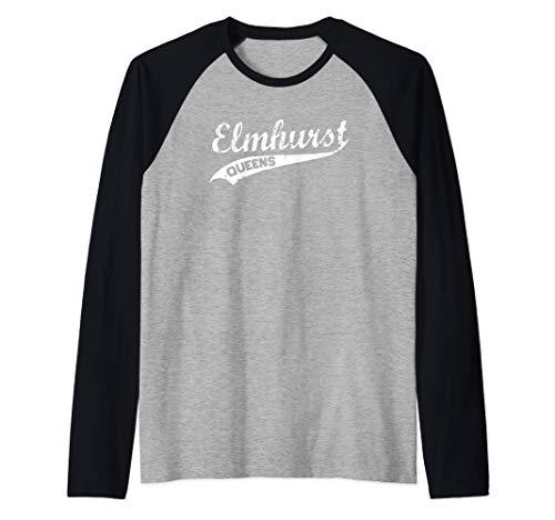 Elmhurst Queens Vintage NYC Retro Shirt Raglan Baseball Tee -