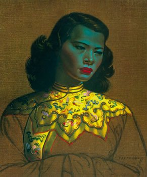 (Vladimir Tretchikoff - Chinese Girl Print #3/5 Artist's Proof Gouttelette on Canvas)