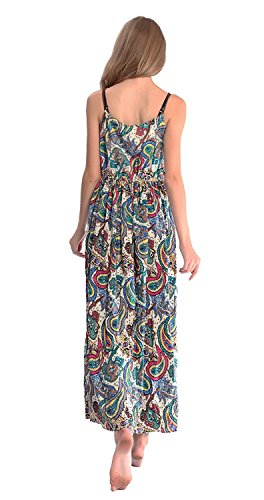 Print Maxi Dress Party DILANNI Flowy Beach Floral Women's Color 08 Sleeveless Summer qwcrUwTZOX