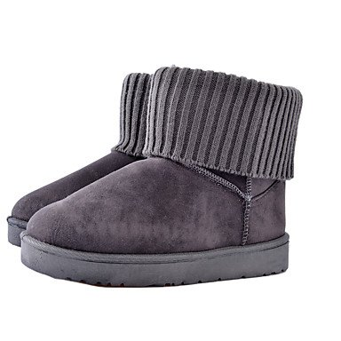 Flat Blushing Gll Boots amp;xuezi Fabric Gray Flat Women's Comfort Yellow Pink Grey Heel Winter Black Casual 6pqUCnqwx