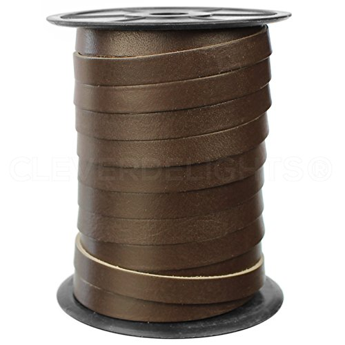 CleverDelights Premium Cowhide Leather Strap -- Dark Brown -- 3/8