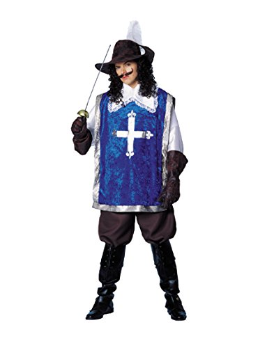 Costume Culture Men's Musketeer Costume, Blue, (Three Musketeers Costumes)